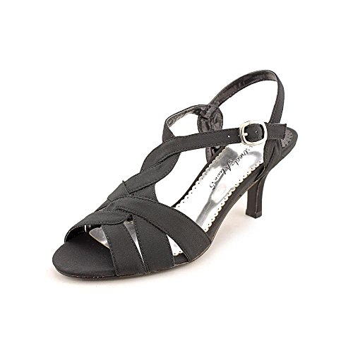 Easy Street Womens Glamorous Black Peau w/Leather Outsole Heels 7.5 M (B) ()