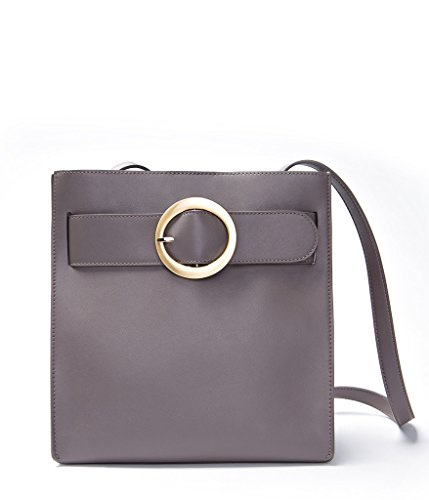 EMINI HOUSE Influencer Women's Bucket Bag Circular Ring Crossbody Handbag-Grey