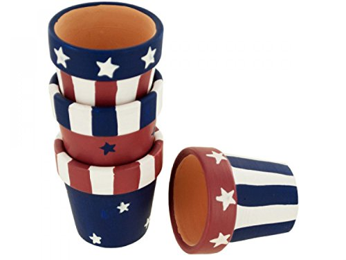 Wholesale Americana Terra Cotta Napkin Rings Set - Set of 12, [Seasonal, Patriotic & 4th of July] ()