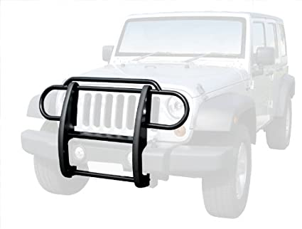 Tyger Auto Custom Fit 2007 2017 Jeep Wrangler JK Grille Saver Bumper Brush  Guard Black