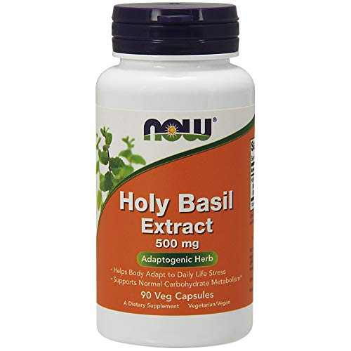 Now Supplements, Holy Basil Extract 500 mg (Holy Basil is a Sacred Plant in Ayurveda), 90 Veg Capsules ()