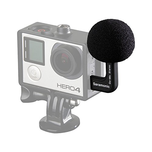 Stereo Condenser Microphone for GoPro Hero 3 3+ 4 Mic Cable Adapter - 5