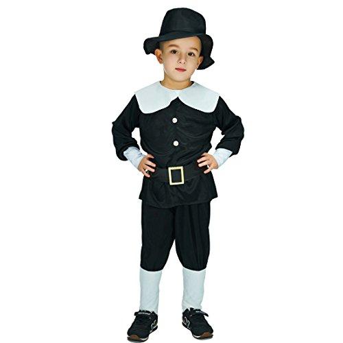 Boy Pilgrim Costumes (Boy's Pilgrim Costumes (10-12 Years))