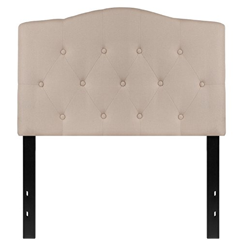 (Flash Furniture Cambridge Tufted Upholstered Twin Size Headboard in Beige Fabric)