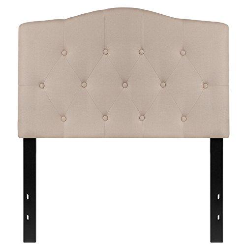 Twin Size Headboard (Flash Furniture Cambridge Tufted Upholstered Twin Size Headboard in Beige Fabric)