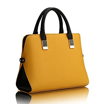 Polyethylene Bag For Women,Yellow - Tote Bags