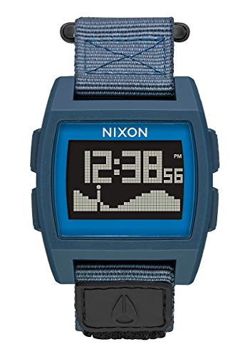 NIXON Base Tide Nylon A1171 - Navy - 102M Water Resistant Men's Digital Surf Watch (38mm Watch Face, 22mm Nylon Band)