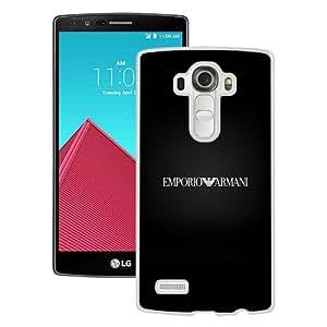 Recommend Design Emporio Armani Logo White Special Custom Made LG G4 Cover Case