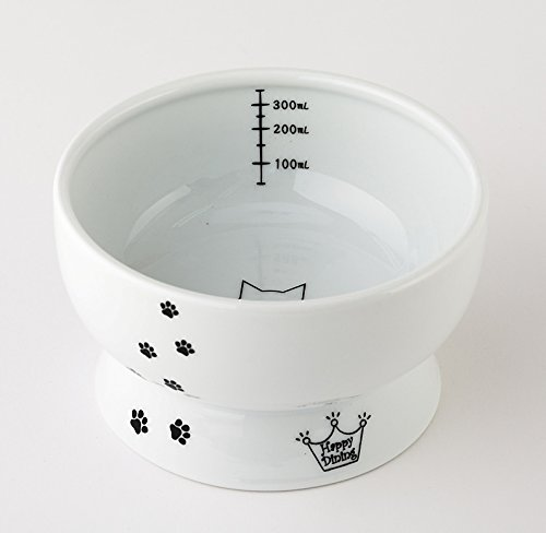 Necoichi Raised Cat Water Bowl (Cat, Regular)