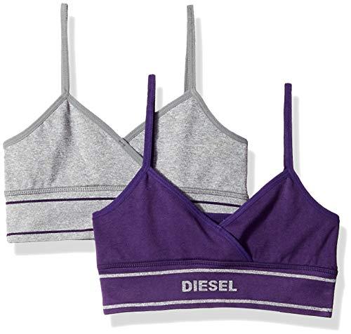 Diesel Accessories Girls' Big 2 Pack Seamless Cross Front Bralette