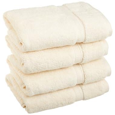Superior 900 Gram Egyptian Cotton 4-Piece Hand Towel Set, Cream