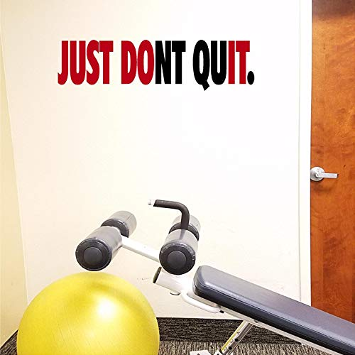 Jeyfel Decals. Fitness Wall Decals. Just Dont Quit. Just Do It. Vinyl Wall Art, Sticker Decal Gym.