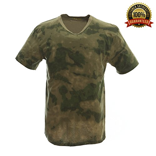 Fg Camo (Sharktical Army Camo Camouflage Military T Shirts in Mens Sizes: XS-XXL)