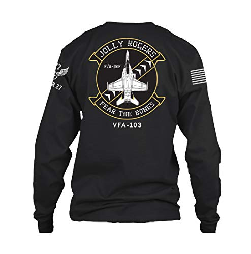 BUNKER 27 Jolly Rogers F/A F-18F Super Hornet Long Sleeve (Large) -