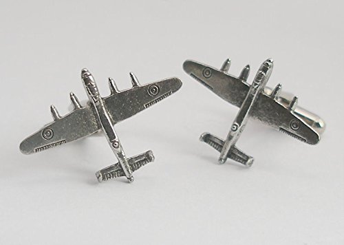 Lancaster Cufflinks - Avro Lancaster Bomber Pewter Cuff Connectors – Gift Boxed