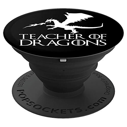 Teacher of Dragons - Funny Halloween Costume Gift PopSockets Grip and Stand for Phones and Tablets]()