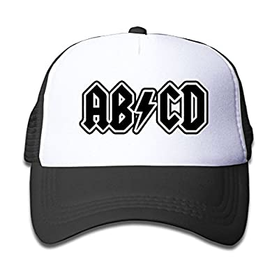 Ooiilpe Children's Grid Cap ABCD Kid's Cute Cool Fitted Mesh Cap with Adjustable Snapback Strap Hat