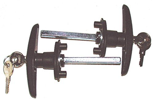 Bauer Products (T-311 BLACK SETS) Blind Mount Locking T-Handle, (Pack of 2) - Technologylk Locks