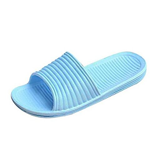 Zapatillas De Casa Antideslizantes Unisex Zapatillas De Baño Pisos De Piso Azul