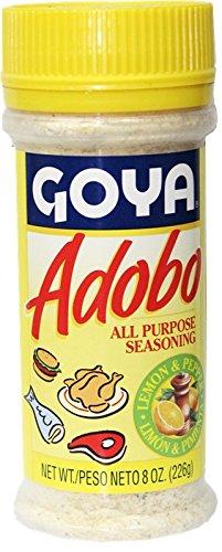 Amazon Com Goya Adobo Seasoning With Lemon And Pepper 8 Oz Grocery Gourmet Food