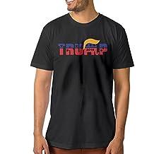 Candi Men's Presidential Candidate Trum Tshirt Tee Vintage Casual Black
