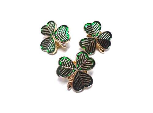 Irish Lapel Pin - Set of 3 Irish Shamrock Lapel Pins