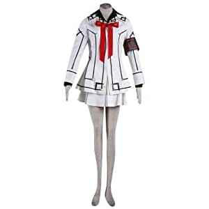 Vampire Knight Night Cross Academy Female Uniform Cosplay Costume in White S Size