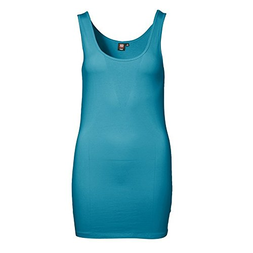 ID Womens/Ladies Extra Long Stretch Vest Top