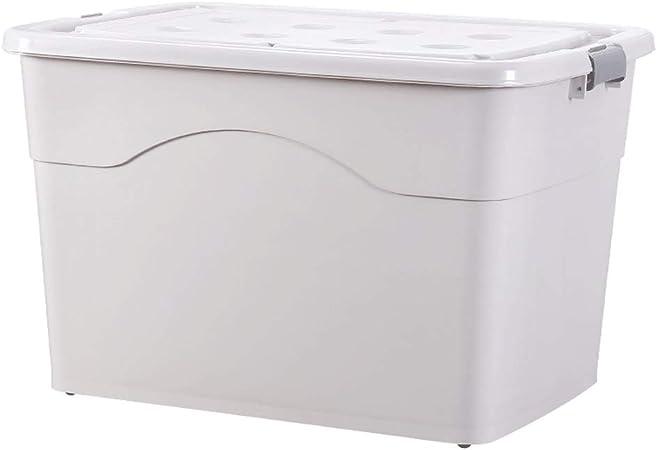 D-YYBB Caja de almacenamiento, 80 litros de plástico caja-Extra Grande-contenedor de almacenamiento, robusta y ligera, apilable, de plástico caja de almacenamiento, perfecto for escuelas, oficinas y j: Amazon.es: Hogar