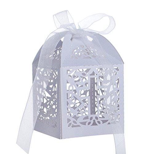 Aspire 50 PCS Cross Favor Boxes Wholesale Laser Cut Candy Box Wedding Accessories