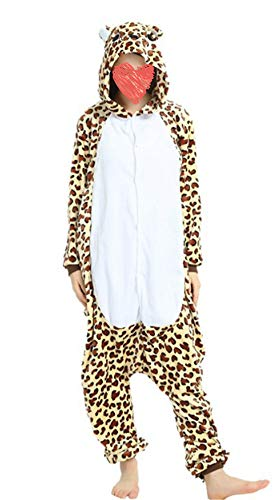 Tri-Better Adult Onesie Leopard Bear Pajamas Hooded Kigurumi Unisex Cosplay Costumes (L)