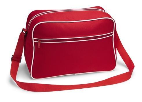 ribetes de rojo bandolera diseño rojo 70 los con años nailon negro negro Bolsa noTrash2003 wIOqYY