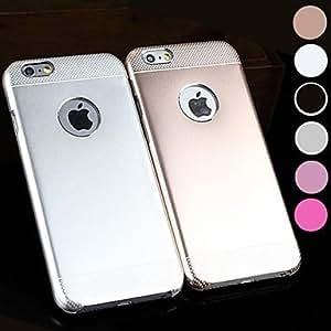 GX alta precisión punto ola de metal y el caso duro mate para el iPhone 6 Plus (color clasificado) , Pink