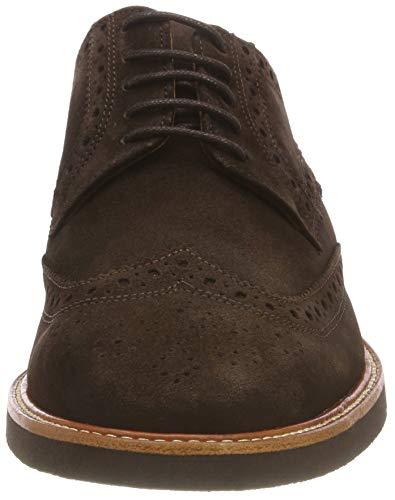 Suede Foncé Derby Zapatos Cordones Para brun Wilson Sebago Marrón 901 De Hombre 5qwUO