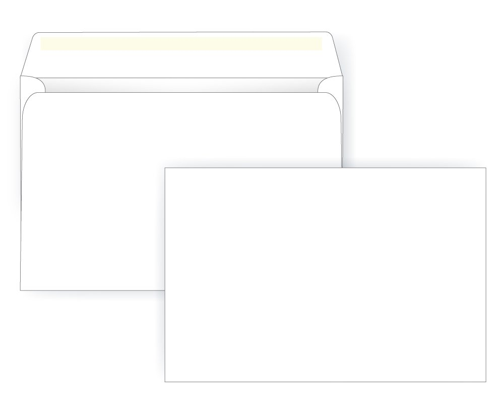 6 1/2 x 9 1/2 Booklet Envelope - 24# White - Open Side (6.5 x 9.5) - Large Envelope Series (Box of 500) Office Express