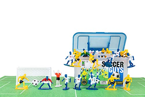 Kaskey Kids Soccer Guys - Blue/Yellow Inspires Kids Imaginations with Endless Hours of Creative, Open-Ended Play - Includes 2 Teams
