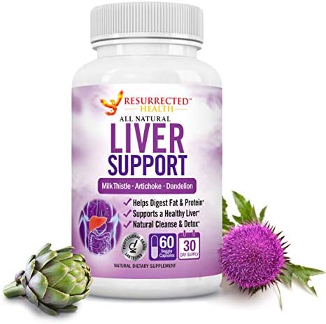 Liver Cleanse Detox Repair Formula – Flush Toxins, Waste and Pathogens – Cycle Support Supplement – Liver Detoxifier Regenerator Health Complex with Milk Thistle Dandelion Artichoke