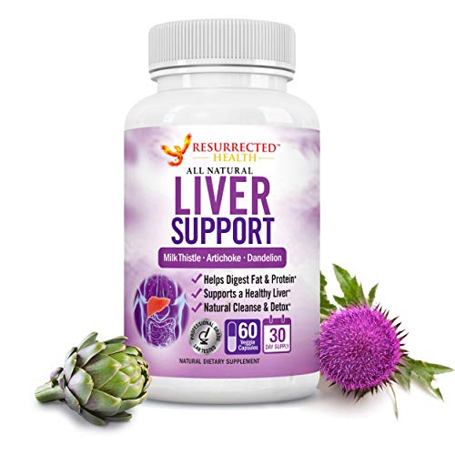 Liver Cleanse Detox & Repair Formula - Flush Toxins, Waste and Pathogens - Cycle Support Supplement - Liver Detoxifier & Regenerator Health Complex with Milk Thistle + Dandelion + Artichoke