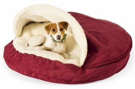 Snoozer Luxury Cozy Cave Pet Bed, Large, Suki Pecan, My Pet Supplies