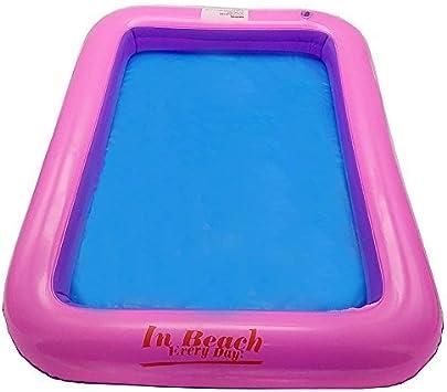 1Pc Blue inflatable indoor kids play sandbox sand tray children toys 60*45cm SE