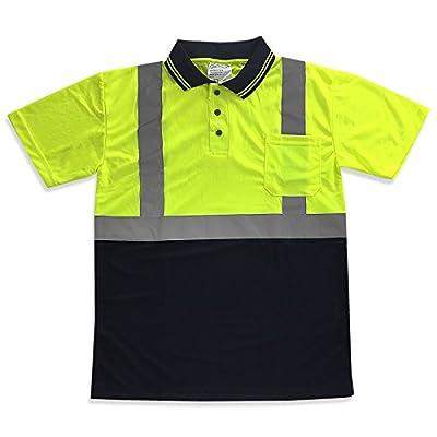 JORESTECH Safety short sleeve Polo shirt (Lime/Dark Blue)