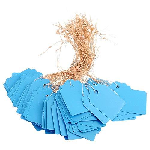 Etiquetas de plástico para Colgar en el jardín con Cuerdas de Cuerda Etiquetas de Plantas Impermeables Marcadores 100...