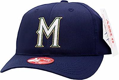 Milwaukee Brewers Youth Snapback Hat Twill Blockhead Logo