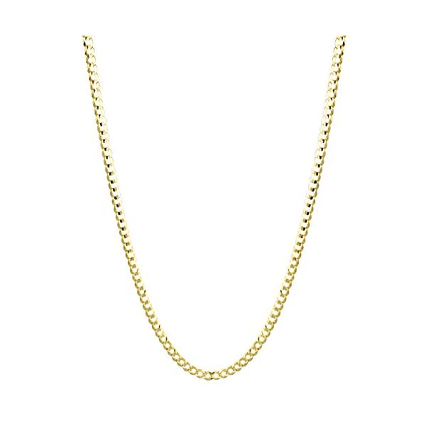 IcedTime-Solid-10K-Yellow-Gold-Italy-Cuban-Curb-Chain-Necklace-3mm-Wide-with-Lobster-Clasp