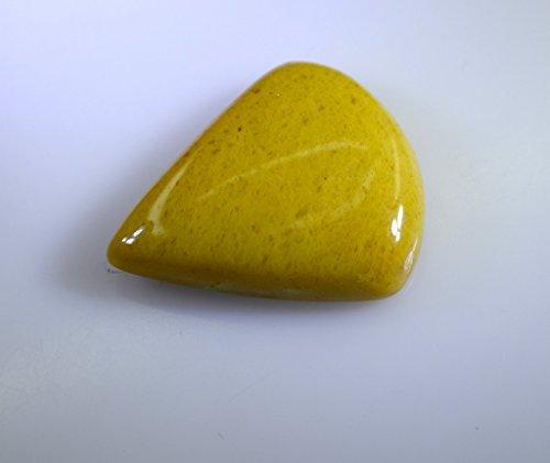 jade jaune pierre lâche poire cabochon 1 pc 25x30 mm styeljd-510029
