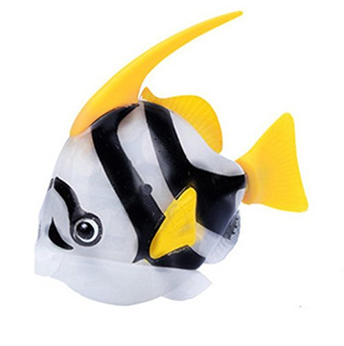 Dingji Swimming Robot Fish Activated in Water Magical Electronic Children Toy (White)