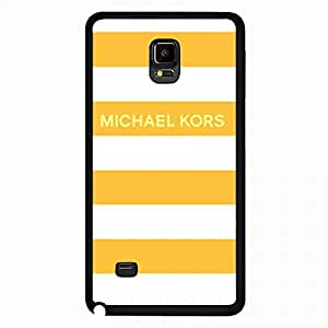 Michael Kors MK Samsung Galaxy Note 4 Case,Michael Kors MK Phone Case Black Hard Plastic Case Cover For Samsung Galaxy Note 4