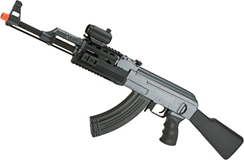 Evike Matrix AK47 Tactical Airsoft AEG Rifle w/RIS Handguard & Lipo Ready Metal Gearbox by (Metal Gearbox Receiver)