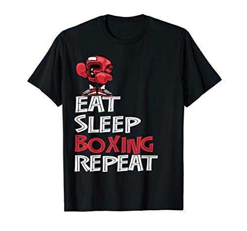 Eat Sleep Boxing Repeat Shirt Gifts for Boys and Men T-Shirt