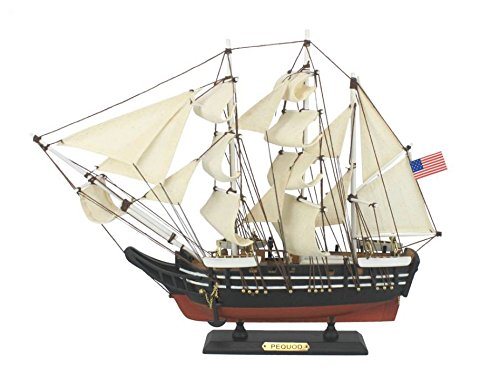 Whaling Boat (Hampton Nautical Wooden Moby Dick - Pequod Model Whaling Boat, 15